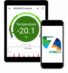 Zynect Sensor App is compatible with tablets and smart phones.