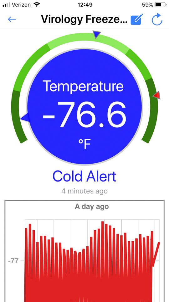 Thermote X Screenshots 1; nist traceable wireless temperature sensor